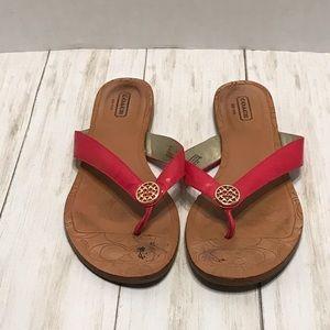 Coach flip flop sandal size 8 /Clare
